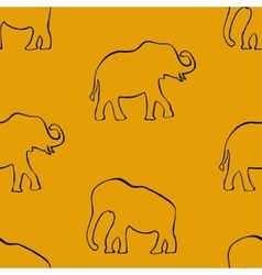 Background with elephants vector