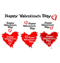 Happy valentines day and typography elements vector