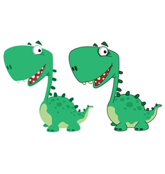 Dino cartoon cute vector
