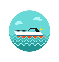 Ship boat icon summer vacation vector