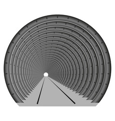 a subway tunnel or car underground the vector image vector image