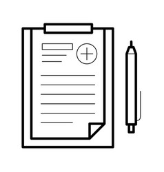 Assignments sheet icon vector