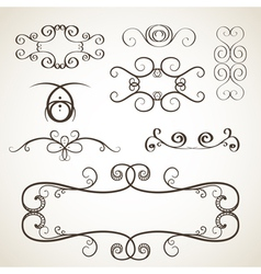 Calligrephic elements vector