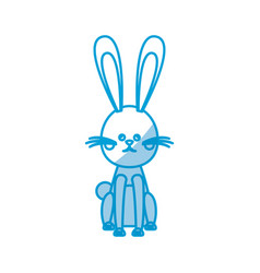 character easter rabbit happy celebration vector image