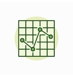 Chart green icon vector