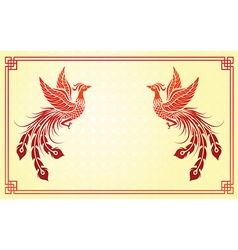 Chinese phoenix template vector