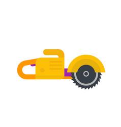 circular saw flat style vector image
