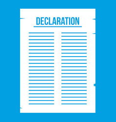 Declaration of independence icon white vector