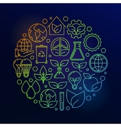 Eco colorful vector image vector image