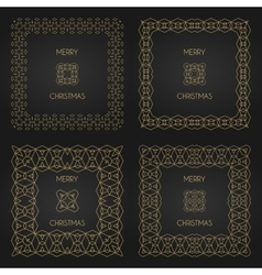 Golden decorative frames set design vector