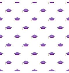 Hat student pattern cartoon style vector
