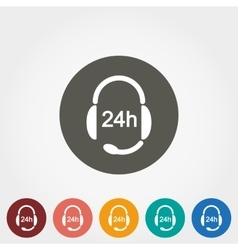 Headphones with Microphone Support 24 hours vector image vector image
