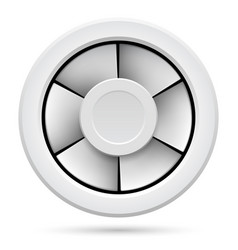 Icon of electric fan on white background vector