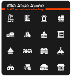 Infrastructure icon set vector