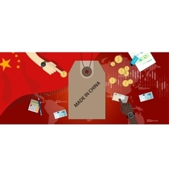 made in China flag trading international money vector image vector image