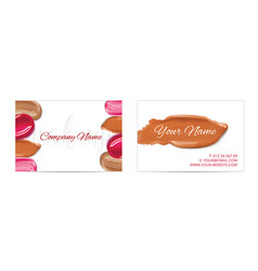 Makeup artist business card template with vector