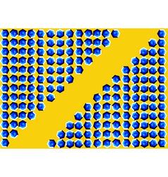 Movement with hexagon vector