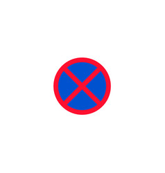 No stopping and parking roadsign isolated vector