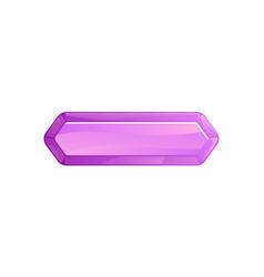 purple blank window option in cartoon style vector image vector image