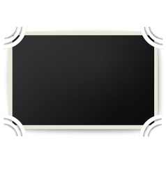 Retro photo frame with straight edges in album vector