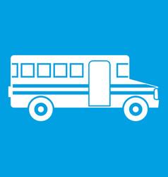 School bus icon white vector