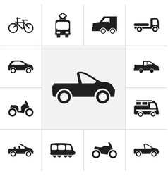 set of 12 editable shipment icons includes vector image vector image