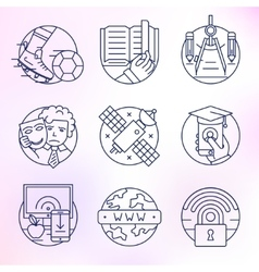 Set of icons in modern linear style vector