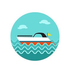 Ship Boat icon Summer Vacation vector image