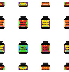 Sport supplement nutrition seamless pattern vector