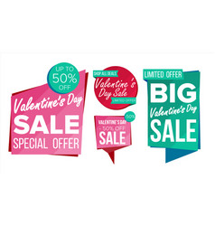 valentine s day sale banner collection vector image vector image