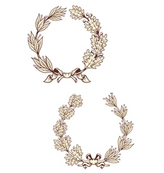Vintage laurel wreathes vector