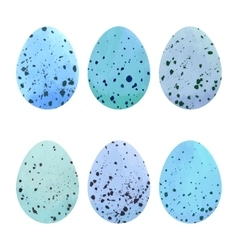 Watercolor Easter eggs set vector image