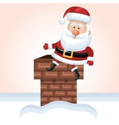 Santa claus chimney design vector