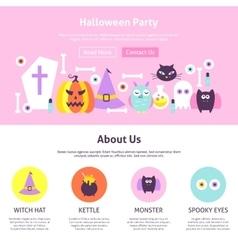 Halloween party website design vector