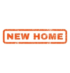 New home rubber stamp vector