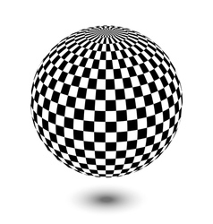 black and white ball vector image
