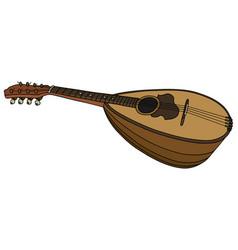Classic small mandolin vector
