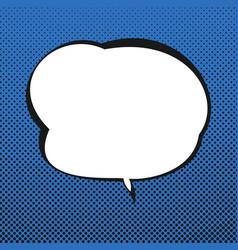 speech bubble blue retro background vector image