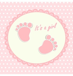 Card for newborn vector