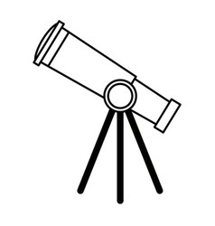 Telescope for astronomy science study equipment vector