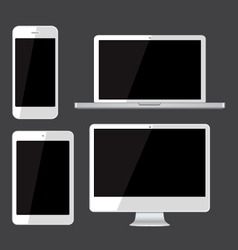 Isolated gadgets cell phone tablet laptop and pc vector