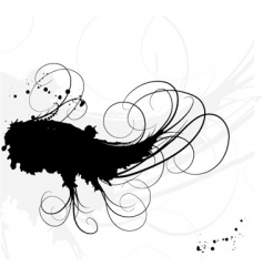ink and lines backgroundoun vector image