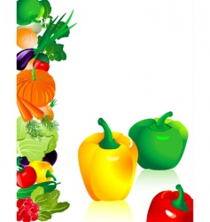vegetables pepper vector image
