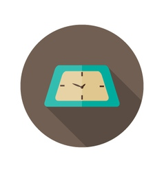 Clock icon over brown vector