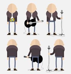 Bald artist vector