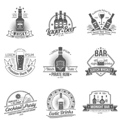 Alcohol label set vector