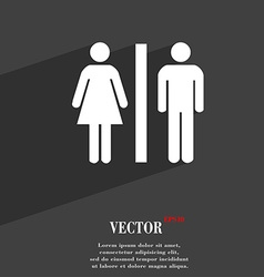 silhouette of a man and a woman icon symbol Flat vector image