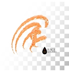 Orange 3d juice splash isolated on white vector