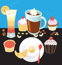 Beautiful tasty breakfast vector