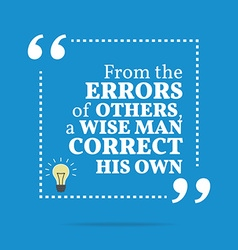 Inspirational motivational quote from the errors vector